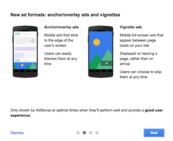 Google AdSense in-page